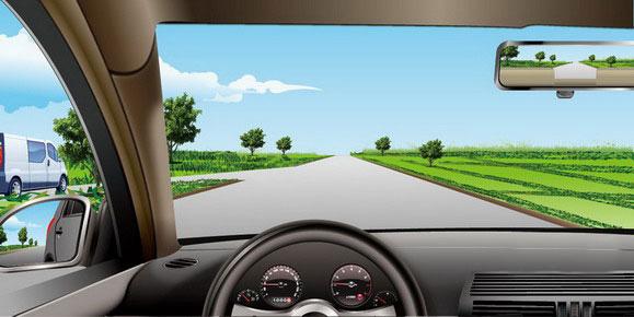 如图所示,驾驶机动车遇到左侧支路白色汽车不减速让行时,以下做法高清图片