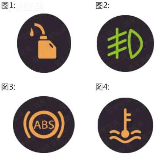 以下哪个指示灯亮时,表示发动机机油压力过低